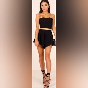 Free People Two Piece Cropped Top Shorts Set XS